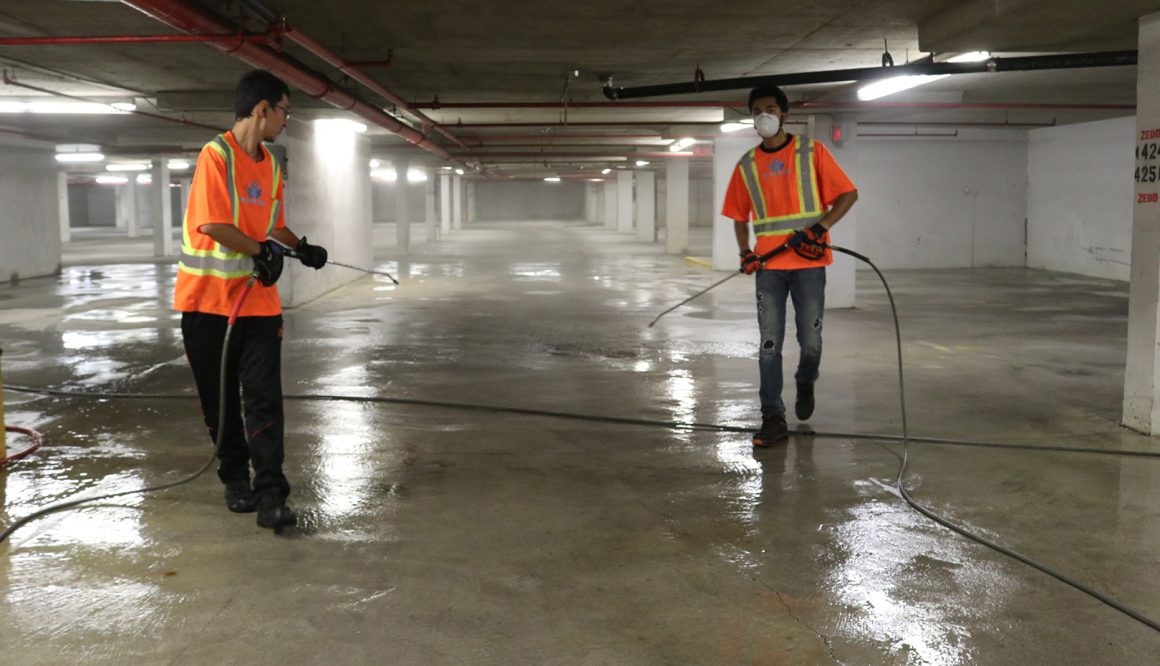 Underground Parking Cleaning